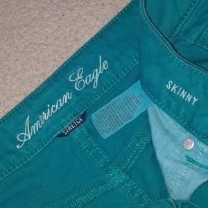 EUC AEO Stretch Skinny Jeans 6 regular Teal
